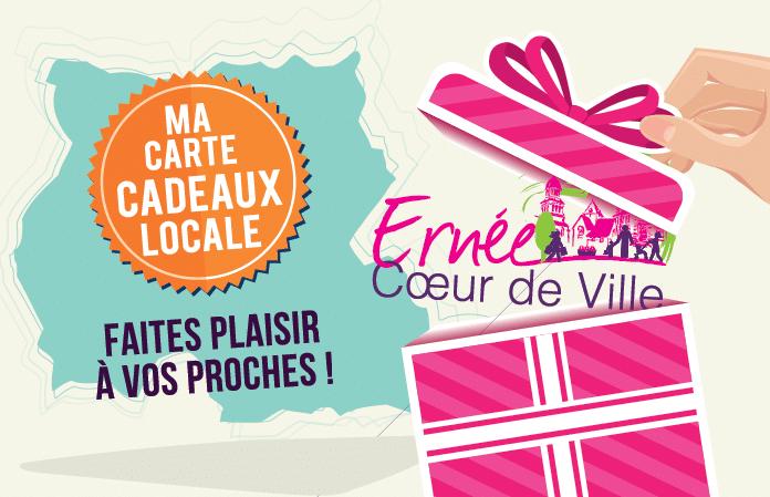 Nouveauté carte cadeau «coeur de ville» – commerçants partenaires à Ernée