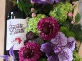 """Coffret gourmand  """"Les fleurs pour Madame, Le vin pour Monsieur"""""""